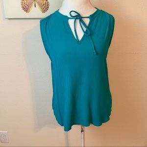 Market & Spruce | green lace back top XL